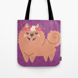 Pomeranian Princess Tote Bag