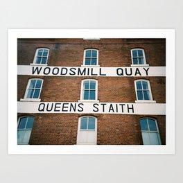 Woodsmill Quay Art Print