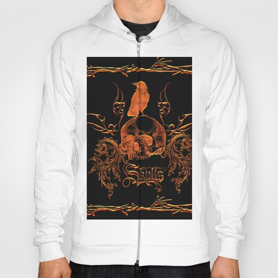 Skull with crow  Hoody