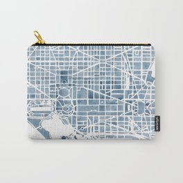 Washington DC Blueprint watercolor map Carry-All Pouch