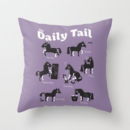 The Daily Tail Horse Throw Pillow