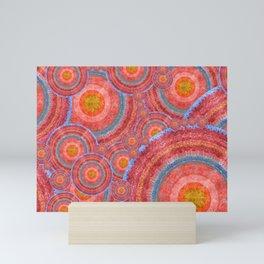 """Sci-fi rose gold abstract mandala pattern"" Mini Art Print"