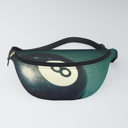 Eight Ball-Teal Fanny Pack