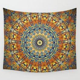Vintage Gold Bohemian Mandala Wall Tapestry