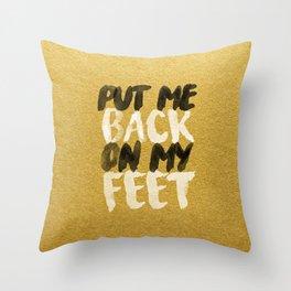 Back On My Feet #GoldenPsalms Throw Pillow