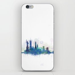 NY New York City Skyline iPhone Skin