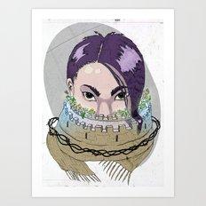 Tough Scarf Art Print