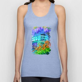 Tardis Art And The Bridge Unisex Tank Top