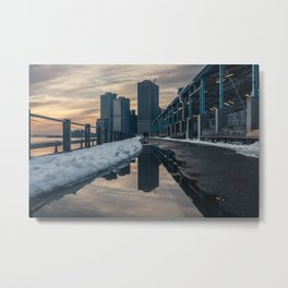 NYC relection Metal Print