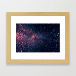 Navy Blue Galaxy Framed Art Print