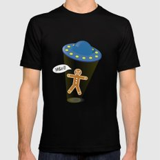 A Christmas Kidnapping MEDIUM Mens Fitted Tee Black