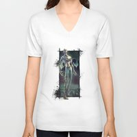 the walking dead V-neck T-shirts featuring Walking Dead by kcspaghetti