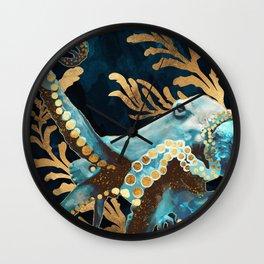 Indigo Octopus Wall Clock