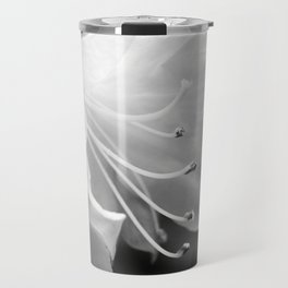 Beautiful Azalea Bloom in Black and White Travel Mug