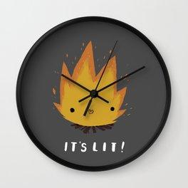 its lit! Wall Clock