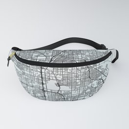 Las Vegas NV USA White City Map Fanny Pack