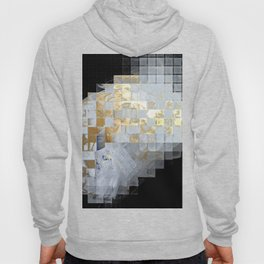 Squares in Gold and Silver Hoody