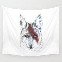 coyote Wall Tapestries featuring Coyote III by Susana Miranda ilustración