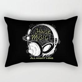 House Music All Night Long | Electro Rectangular Pillow