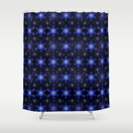 Snowflake Infinite Pattern Shower Curtain