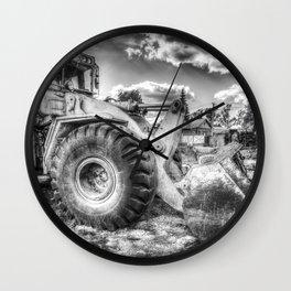 Bulldozer Machine from Earth Wall Clock