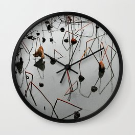 Lotus Pond in Winter Wall Clock