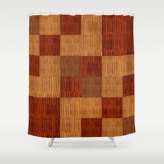 Bamboo patchwork Shower Curtain
