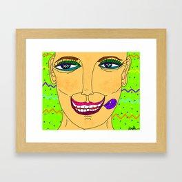 Artsyfartsy: Care.Face Framed Art Print