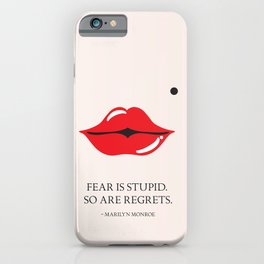 From the lips of Marylin Monroe iPhone Case