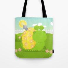 Green Snail (male) Tote Bag