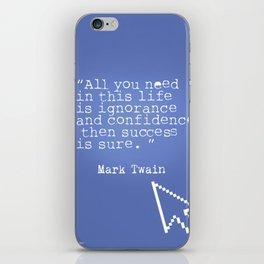 Mark Twain quote 5 iPhone Skin