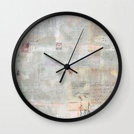 Vintage Ephemera Wall Clock
