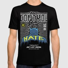 Post-Punk Bat: Control Mens Fitted Tee LARGE Black