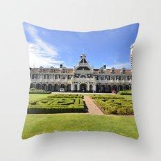 Dunedin Train Station Throw Pillow
