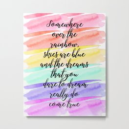 Watercolor - Over the Rainbow Metal Print