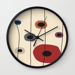 Circles of Six Wall Clock