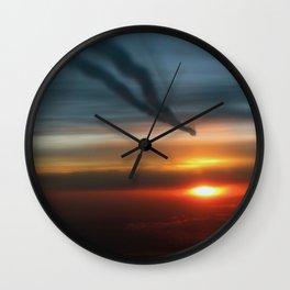 Contrails Wall Clock