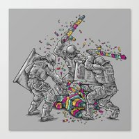 police Canvas Prints featuring Police Brutality by Peter Kramar
