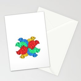 Circle Of Colour White (Meerkats) Stationery Cards
