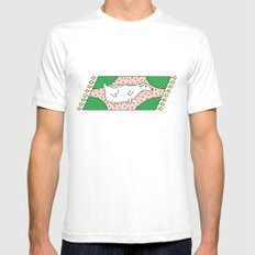 Fat Russell Mens Fitted Tee White SMALL