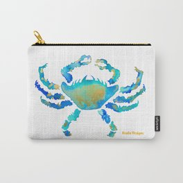 Craggy Blue Crab Carry-All Pouch