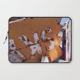 Broken Down Orange Signs in Las Vegas Laptop Sleeve