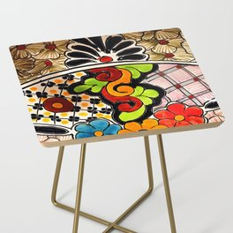 Beautiful Red and Green Talavera Side Table