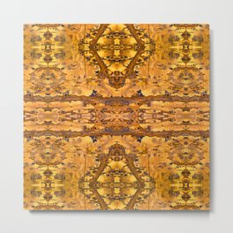 Abstract Kaleidoscope Mineral Crystal Texture Metal Print