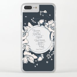 Ye werena the first lass I kissed. But I swear you'll be the last. Jamie Fraser Clear iPhone Case