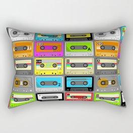 Retro 80s Cassette Tape Pattern Rectangular Pillow