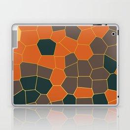 Hexagon Abstract Orange_Brown Laptop & iPad Skin