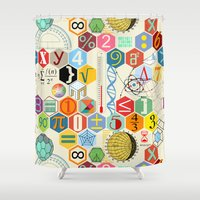 math Shower Curtains featuring Math in color by Chicca Besso