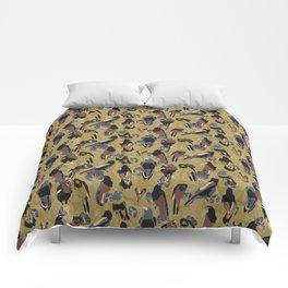Birds of Prey in Gold Comforters