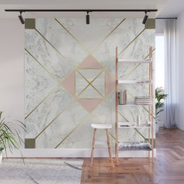 Gold & Marble & Blush & Olive 01 Wall Mural